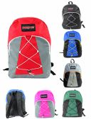 "12 Units of 17"" PureSport Bungee Backpacks - Assorted Colors - Backpacks 17"""