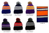 36 Units of Premium Pom Pom Winter Knit Hats - Striped