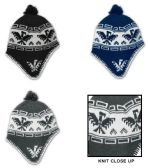 24 Units of Men's Fleece Lined Earflap Hats - Peruvian Prints