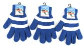 72 Units of Adult Magic Gloves-Blue and White - Knitted Stretch Gloves