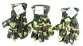 60 Units of Men's Camouflage Fleece Gloves