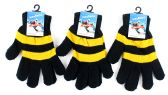 60 Units of Adult Magic Gloves-Black and Gold