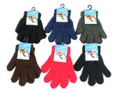 60 Units of Children's Solid Color Magic Stretch Gloves