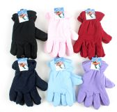 60 Units of Women's Fleece Lined Gloves - Assorted Colors