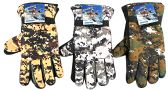 36 Units of Men's Camouflage Ski Gloves w/ Grips - Ski Gloves