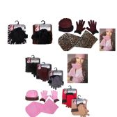 72 Units of Women's Fleece Hat, Fleece Glove, and Fleece Scarf Sets - Assorted Patterns - Winter Sets Scarves , Hats & Gloves
