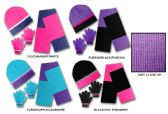 24 Units of Women's/Girl's Hat, Glove, & Scarf Sets - Colorblock Designs - Winter Sets Scarves , Hats & Gloves
