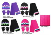 36 Units of Women's/Girl's Hat, Glove, & Scarf Sets - Zig Zag Designs - Winter Sets Scarves , Hats & Gloves