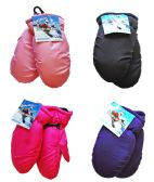 36 Units of Toddler Ski Mittens - Ski Gloves