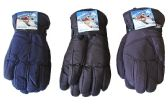 36 Units of Men's Ski Gloves - Solid Colors - Ski Gloves