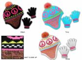 36 Units of Children's Fleece Hat & Magic Glove Sets  - Winter Sets Scarves , Hats & Gloves