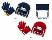 36 Units of Children's Fleece Lined Earflap Hat & Magic Glove Sets - Winter Sets Scarves , Hats & Gloves