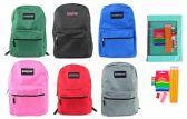 "24 Units of 17"" Classic PureSport Backpack & Elementary School Supply Kit Sets"