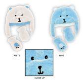 48 Units of Baby Boy's Fleece Lined Fuzzy Hat & Mitten Sets - Bear Designs