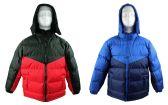 12 Units of Kid's Winter Bubble Ski Jackets w/ Detachable Hood - Sizes 8-20 - Choose Your Color(s) - Junior Kids Winter Wear