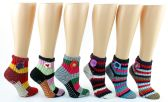 12 Units of Women's Deluxe Crochet Slipper Socks w/ Non-Skid Grips