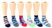 24 Units of Kid's Novelty Ankle Socks - Sport Print - Size 6-8