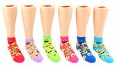 24 Units of Toddler's Novelty Ankle Socks - Emoji Print - Size 2-4