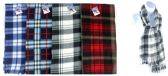 "60 Units of Fleece Scarves - Checkered Pattern - 60"" x 7.5"" - Winter Scarves"