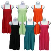 72 Units of Women's Sundresses - Solid Colors