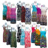 36 Units of Women's Printed Sundresses - Assorted Prints - Sizes S/M, M/L & XL/XXL