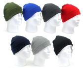 60 Units of Premium Children's Cuffed Knit Hats - Assorted Colors