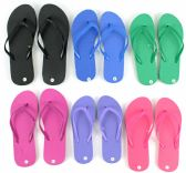 96 Units of Women's Flip Flops - Solid Colors