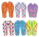 96 Units of Women's Flip Flops - Assorted Patterns