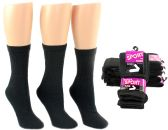 24 Units of Women's Athletic Tube Socks - Black - Size 9-11
