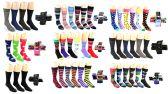 120 Units of Men's Casual Crew Dress Socks - Assorted Styles - Size 10-13 - Mens Crew Socks