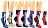 24 Units of Women's Novelty Crew Socks - Designer Print - Size 9-11