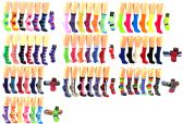 120 Units of Women's Novelty Crew Socks - Assorted Styles - Size 9-11 - Womens Crew Sock