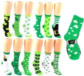 24 Units of St. Patrick's Day Crew Socks - Size 9-11