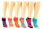 24 Units of Toddler Girl's Low Cut Novelty Socks - Tie Dye Print - Size 2-4 - Womens Ankle Sock