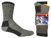 30 Units of Women's Thermal Merino Wool Crew Socks - 2-Pair Packs - Womens Thermal Socks