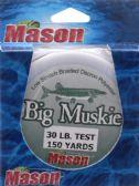 9 Units of Mason Tackle BIG MUSKIE LINE 30# BLK 150 YD - Fishing - Fishing Accessories