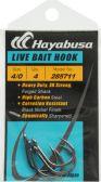 48 Units of Hayabusa LIVE BAIT HOOK BLK NCKL SZ 4/0 - Fishing - Terminal