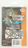 12 Units of Orange Tackle SNAGGIN HOOKS 8/0 8CNT BROWN   - Fishing - Terminal