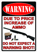 44 Units of River'S Edge Warning/Price Increase Sign - Sports Licensing and Gifts - Gifts and Lifestyle