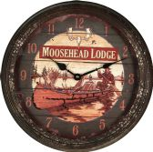 "8 Units of River'S Edge 15"" Rusted Moosehead Clock - Sports Licensing and Gifts - Gifts and Lifestyle"