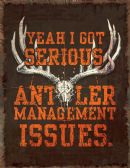 22 Units of River'S Edge HEAVY METAL ANTLER MANG SIGN - Sports Licensing and Gifts - Gifts and Lifestyle