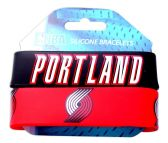 44 Units of NBA BLAZERS SILICONE 2PK Bracelet - Sports Licensing and Gifts - Sports Licensing