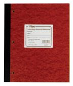 """5 Units of TOPS Laboratory Research Notebook, 11"""" x 9-1/4"""", Quad Rule ( 4 x 4 front), White Paper, Red Pressboard Cover, 100 Sheets per Book - Notebooks"""