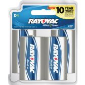 72 Units of Rayovac 813-4F Mercury Free Alkaline Batteries, D 4 pk - Office Supplies