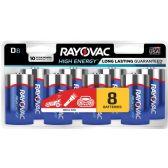 42 Units of Rayovac 813-8CF Mercury Free Alkaline Batteries, D 8 pk - Office Supplies