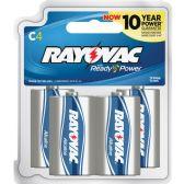 72 Units of Rayovac 814-4F Mercury Free Alkaline Batteries, C 4 Pk - Office Supplies