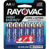 48 Units of Rayovac 815-12CF Mercury Free Alkaline Batteries, AA 12 Pk - Office Supplies