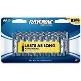 24 Units of Rayovac 815-36CF2 Mercury Free Alkaline Batteries, AA 36 Pk - Office Supplies