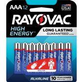 48 Units of Rayovac 824-12CF Mercury Free Alkaline Batteries, AAA 12 Pk - Office Supplies