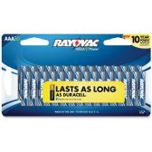 28 Units of Rayovac 824-30F Mercury Free Alkaline Batteries, AAA 30 Pk - Office Supplies